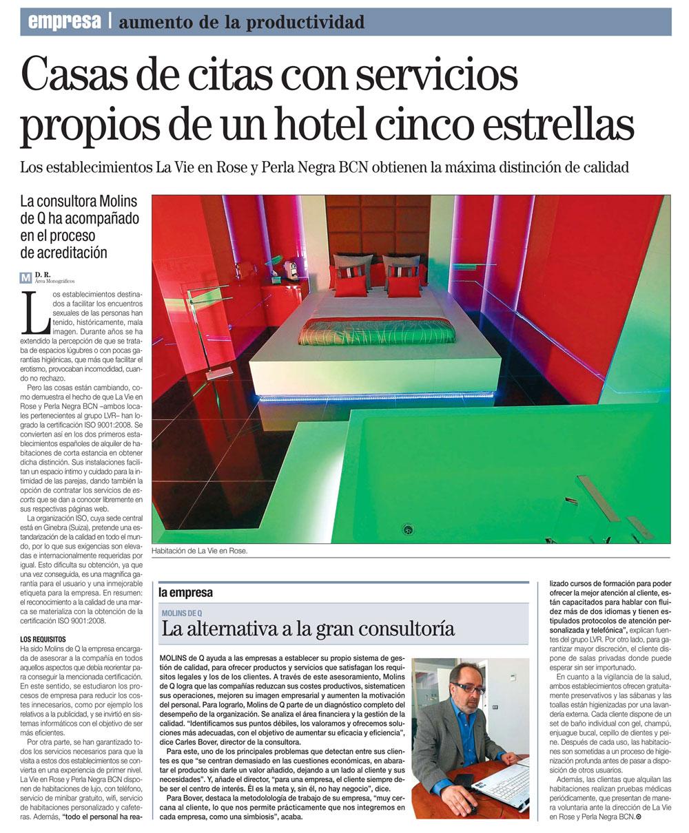 Casa de citas con servicio de hotel con escorts en Barcelona