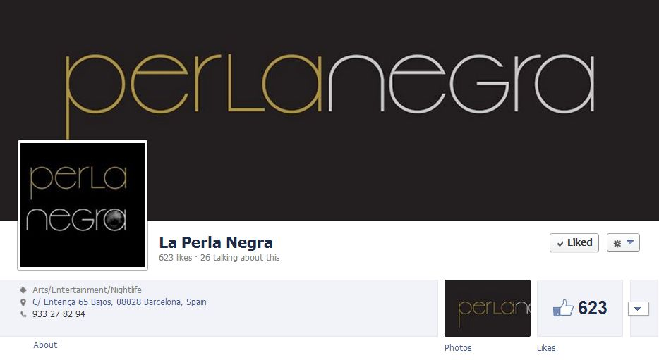 PerlaNegraBCN has over 600 followers on Facebook